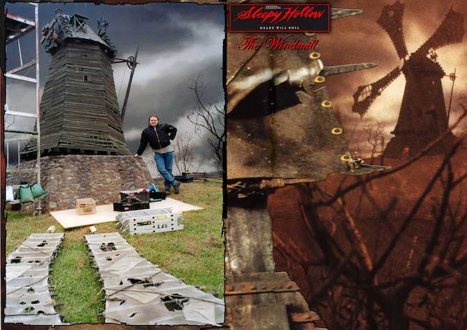 Derek Tombin Prop Maker Sleepy Hollow Windmills